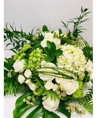 Bouquet of white and green flowers