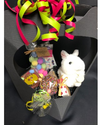 Gift basket with rabbit