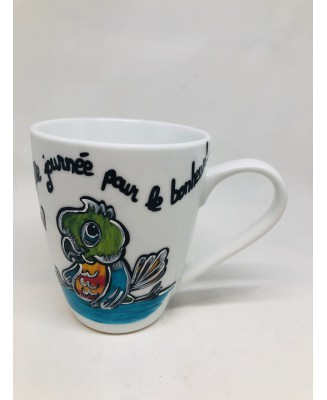 Hand-painted mug with beautiful colours