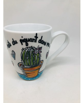 Cup with cactus