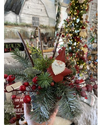 Artificial Christmas montage with decoration